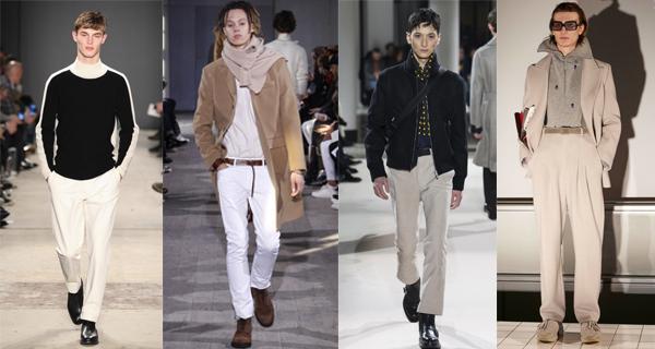 Белые мужские брюки 2018