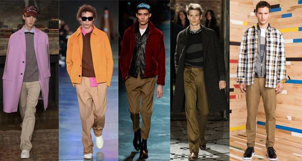 Мужские бежевые брюки 2018