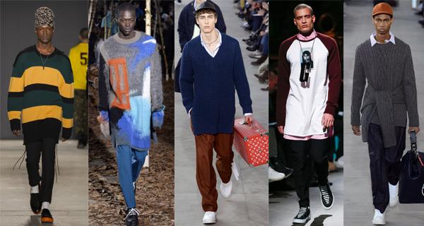 Удлиненные мужские свитера 2018