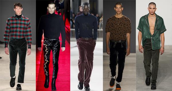 Черные бархатные брюки 2018