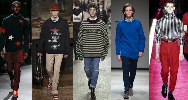 Модные мужские свитера осень-зима 2017-2018