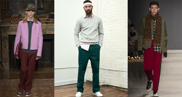 Зеленые мужские брюки 2018