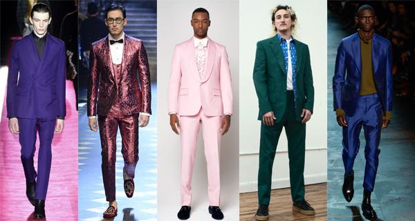 Розовый мужской костюм 2018