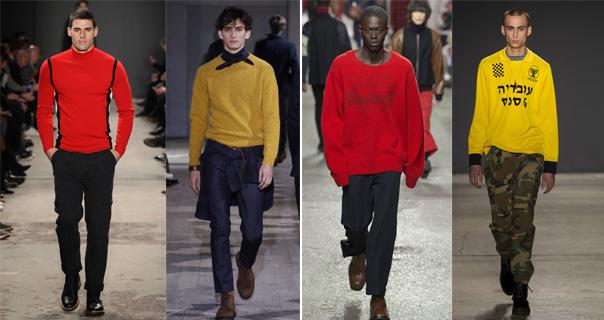 Желтый мужской свитер 2018