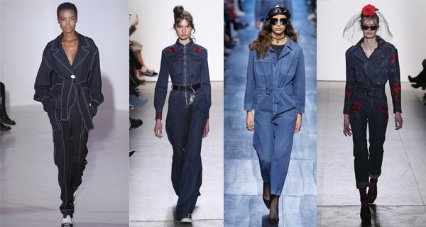 Модный джинсовый комбинезон 2018