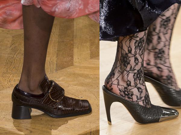 Женские туфли из кожи змеи 2017