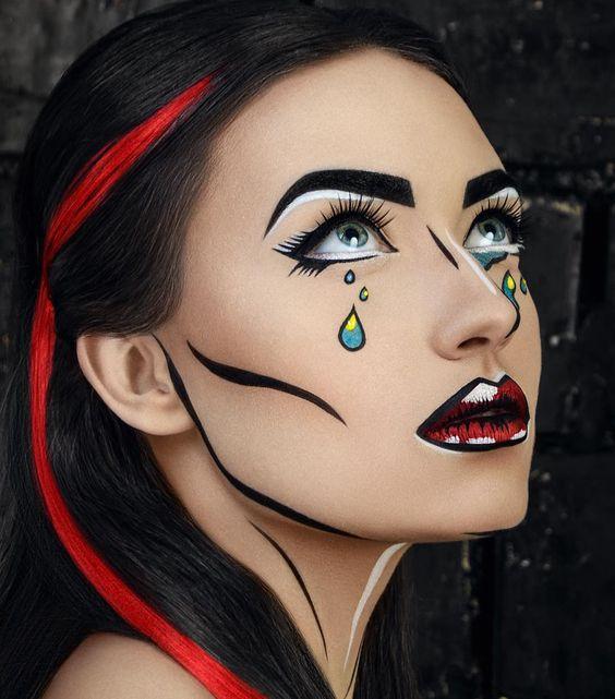 Мультяшный макияж