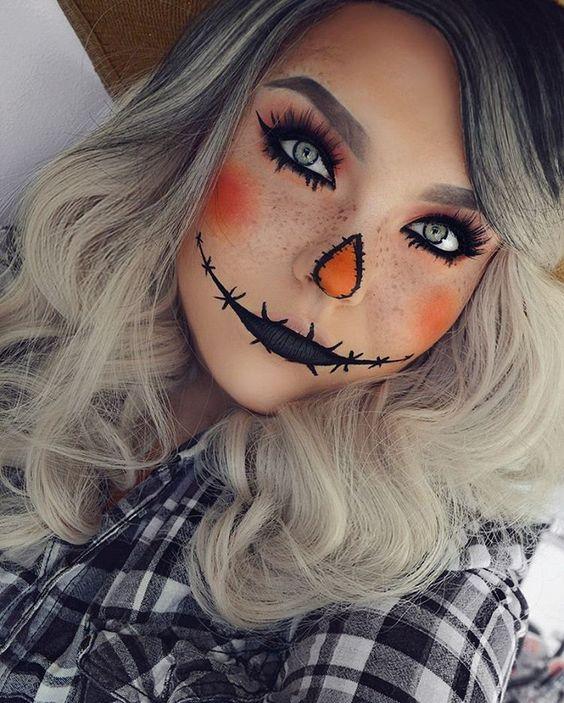Образ чучела к Хэллоуину