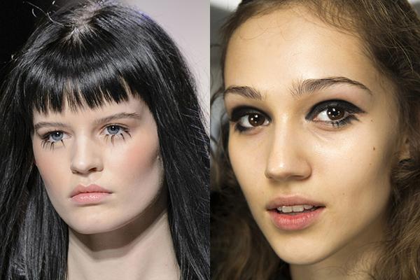 Кукольный макияж глаз осень-зима 2017-2018