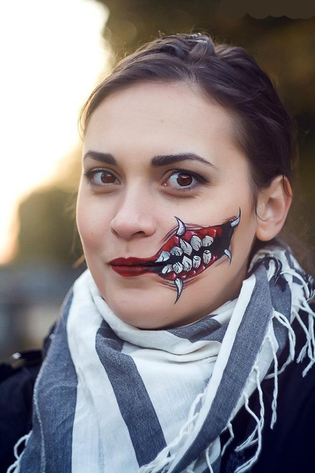 Грим с челюстью на Хэллоуин