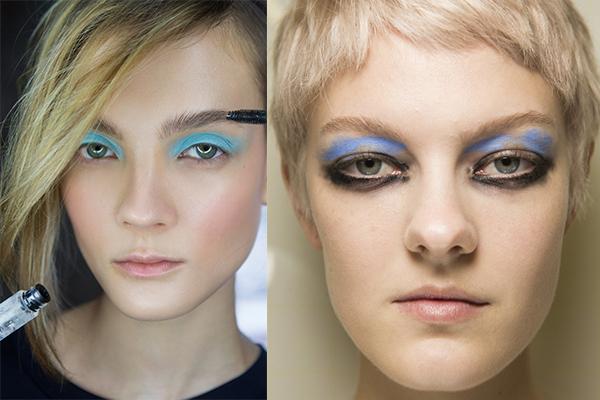 Макияж глаз с синими тенями 2018
