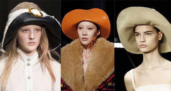 Оранжевая женская шляпа