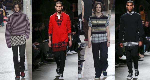 Рубашка с красным свитером