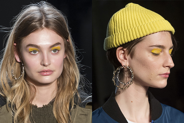 Макияж глаз с желтыми тенями 2018