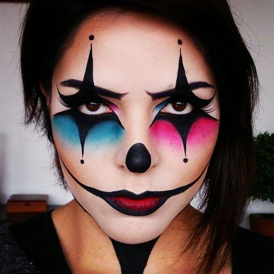 Макияж клоунессы к Хэллоуину