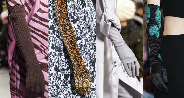 Бархатные женские перчатки