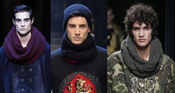 Мужской шарф-хомут