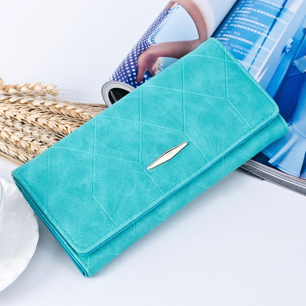 Голубой замшевый кошелек