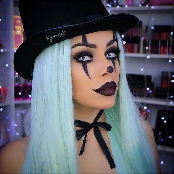 Сексуальный грим клоуна к Хэллоуину