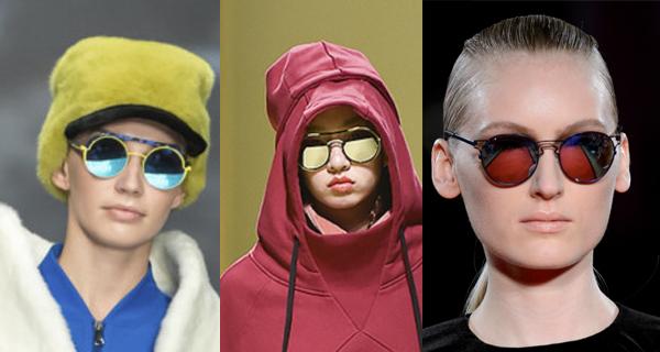 Женские очки с зеркальными стеклами