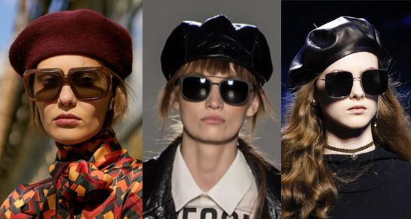Женские очки в квадратной оправе