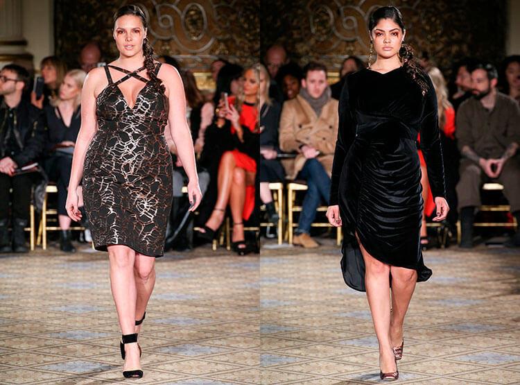 Черное бархатное платье большого размера