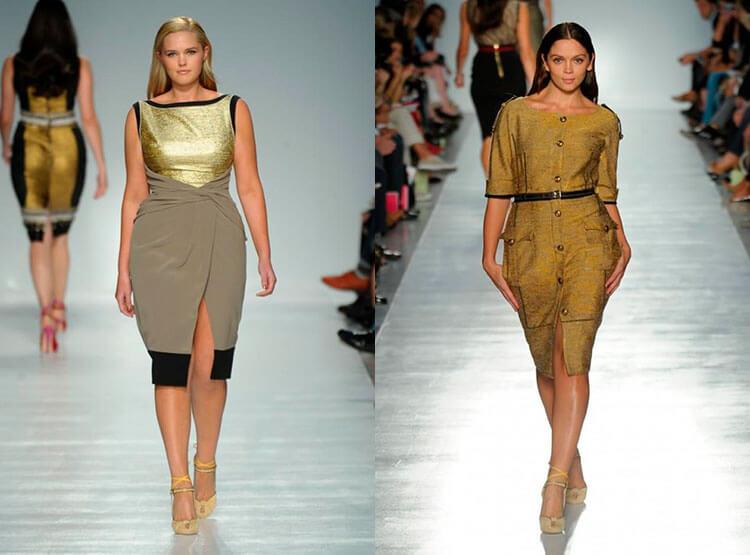 Золотое платье большого размера