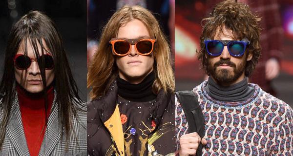 мужские солнцезащитные очки в яркой оправе