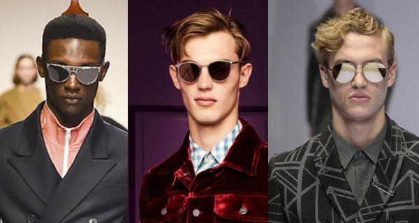 Мужские зеркальные очки