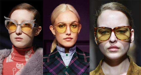 Женские очки с желтыми стеклами 2018