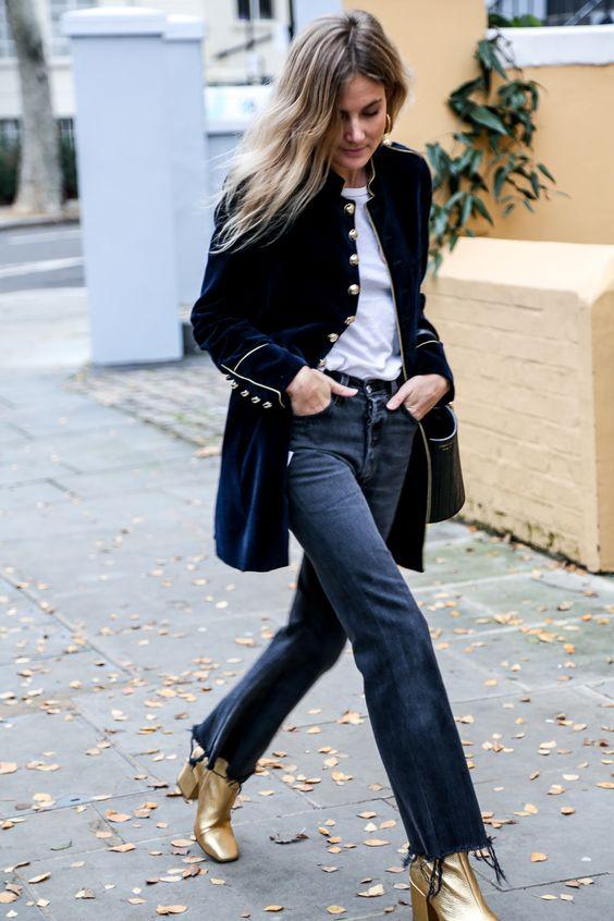 Как носить удлиненный вельветовый пиджак