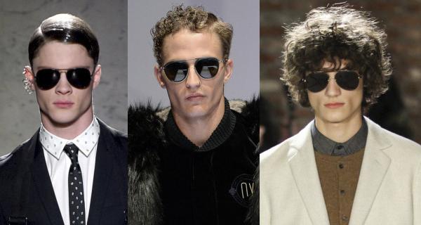 Мужские очки аавиаторы