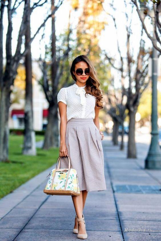 Сиреневая юбка-колокол
