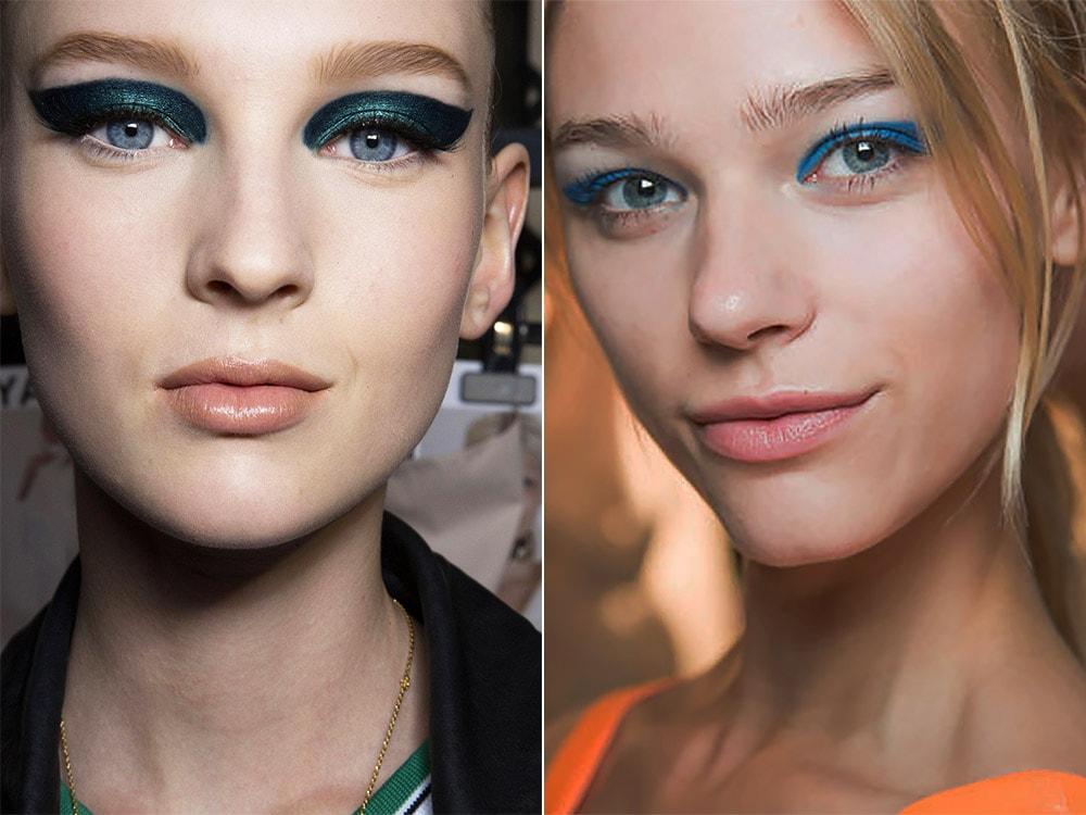 Новогодний макияж глаз со стрелками 2018
