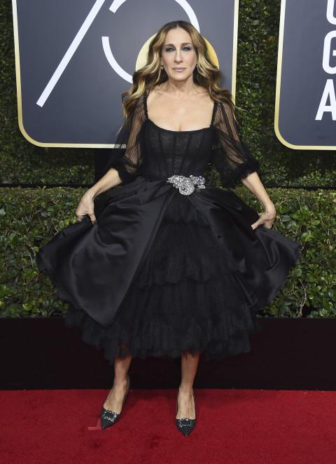 Сара Джесика Паркер в черном платье