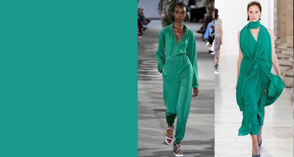 Модный оттенок зеленого 2018
