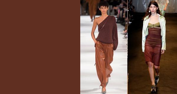 Модный шоколадный цвет в одежде 2018