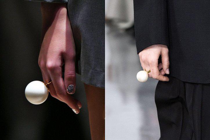 Кольца с искусственным жемчугом 2018