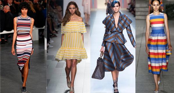 Летние платья в полоску 2018