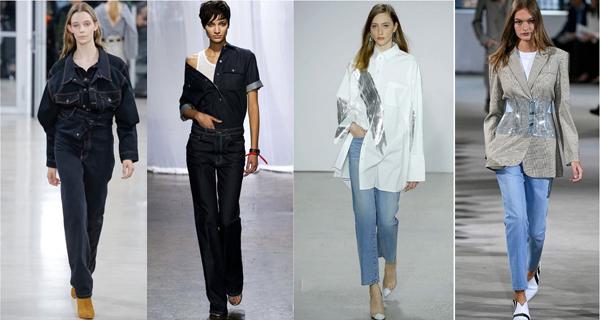 Светлые прямые джинсы