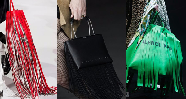 Зеленая сумка с бахромой 2018