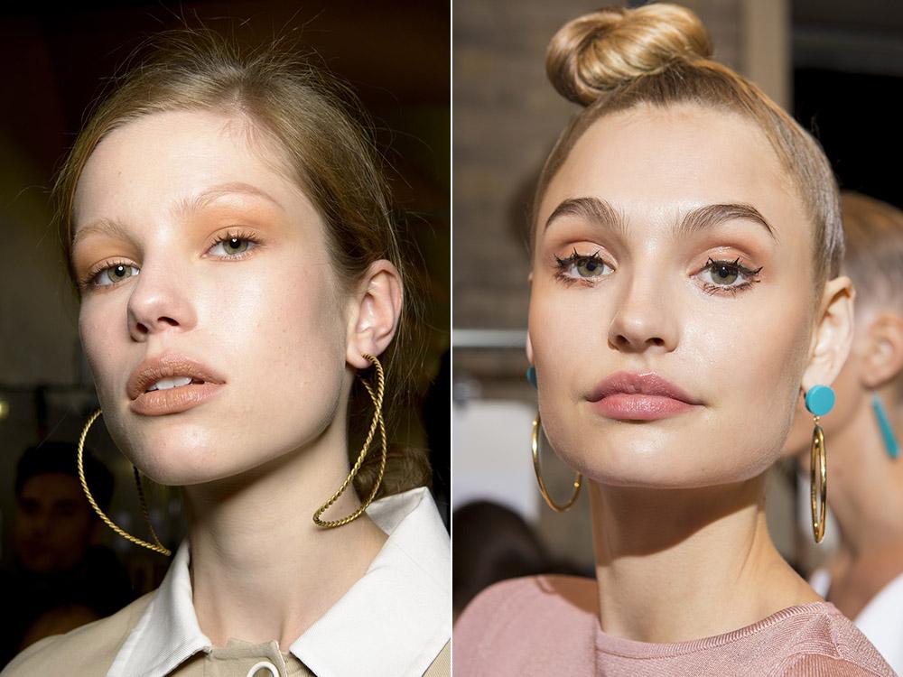 Летний персиковый макияж