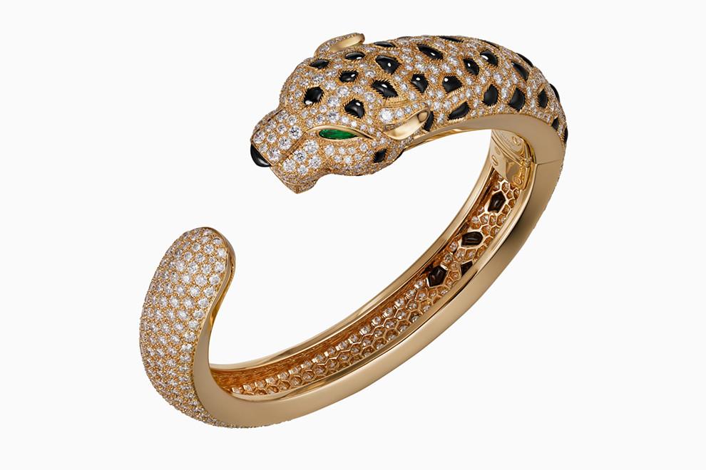 Кольцо в виде головы леопарда