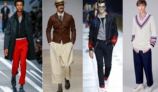 Бежевые мужские брюки с подворотами