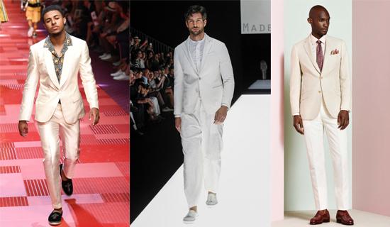 Летний белый мужской костюм