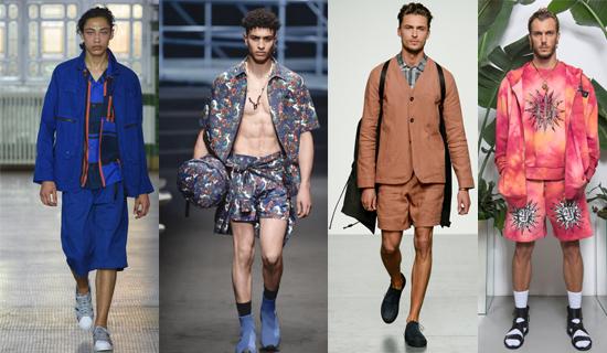 Бежевый мужской костюм с шортами