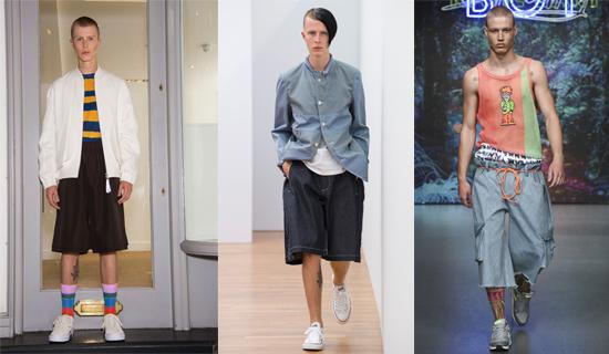 Летние широкие мужские шорты