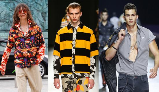 Модные мужские рубашки весна-лето 2018  главные тенденции e4313fdb148