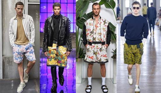 Мужские шорты с цветами