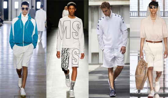 Белые мужские шорты фото